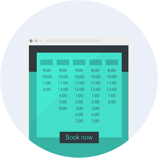 online appointment scheduling by full slate